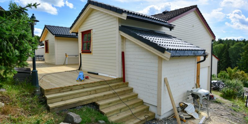 Nytt tilbygg til rekkehus