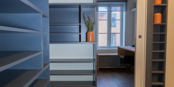 nye hyller, renovering av leilighet